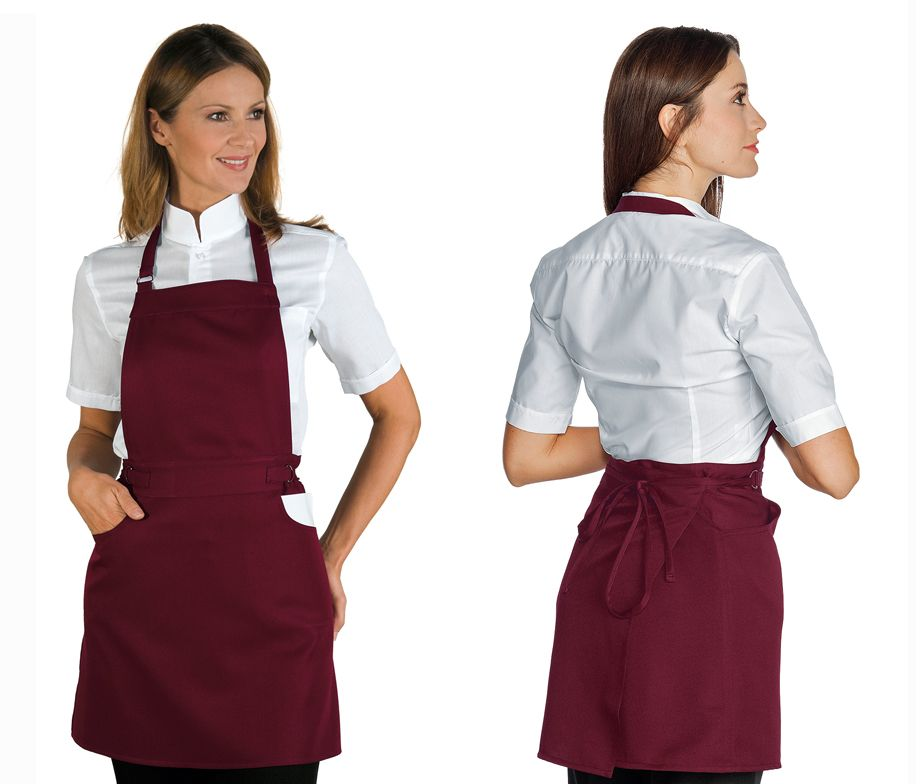 Delantal peto ajustable para camarera delantal camarera for Camareras para cocina