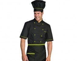 casaca-cocinero-negro-manzana-manga-corta-isacco