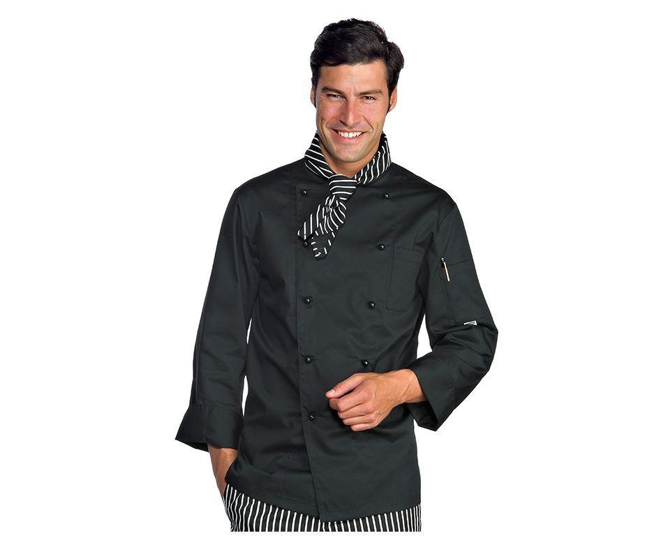 Chaqueta cocinero de cierre de botones y tejido extra ligero - Ropa de cocina ...