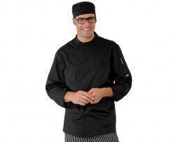 chaqueta-cocinero-negra-extra-microperforado-isacco
