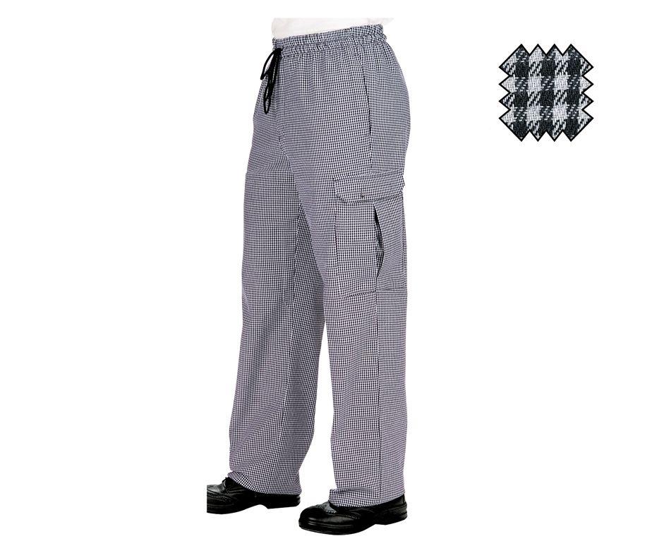 Pantal n de cocina estampado pata de gallo pantal n isacco pantachef - Pantalones de cocina ...