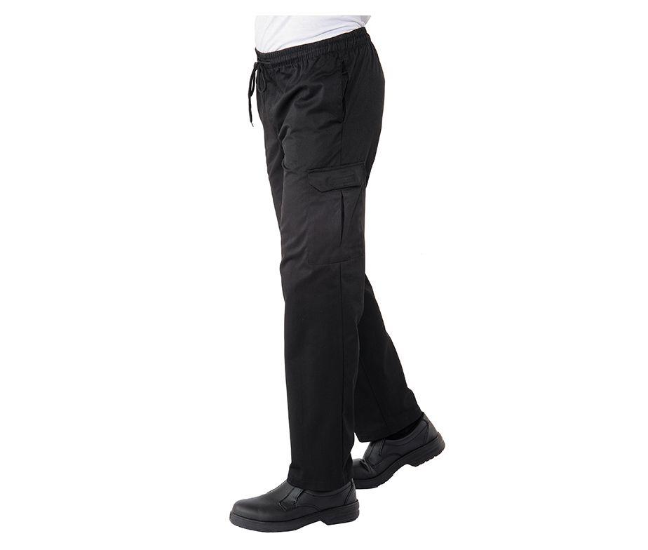 Pantal n de cocinero negro pantal n cocina y chef isacco pantachef - Pantalones de cocina ...