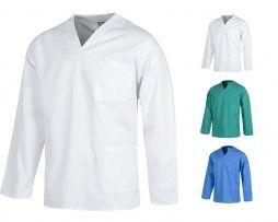 casaca-sanitaria-manga-larga-workteam-b9210