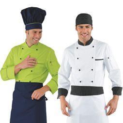 Chaquetas cocinero manga larga