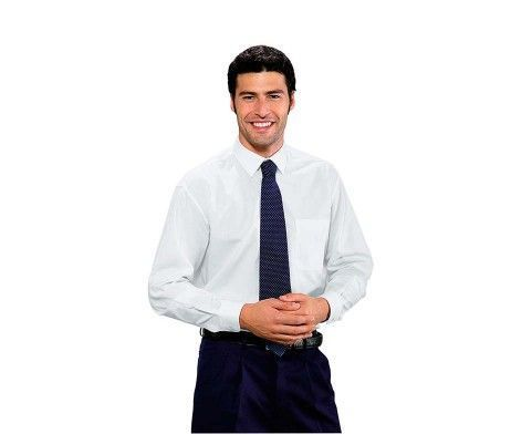 camisa hombre blanca manga corta con bolsillo