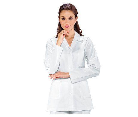 casaca doctora, farmacia , farmacéutica cuello mao