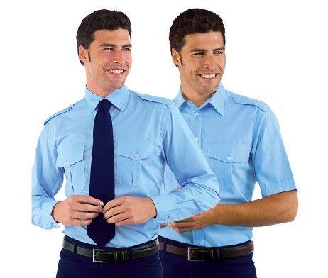 camisas azul cielo de trabajo