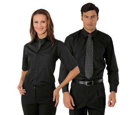 camisa negra trabajo