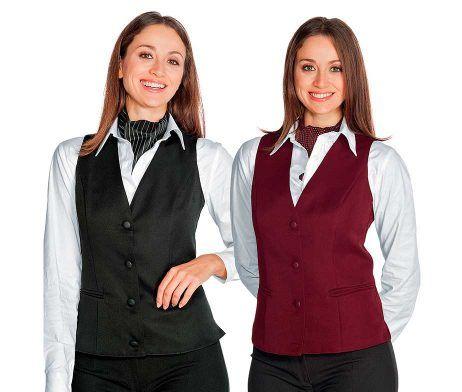chaleco camareras recepcionistas para trabajar poliester