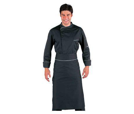 delantal negro largo sin peto para camareros y heladerias