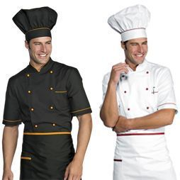 Chaquetas cocinero manga corta