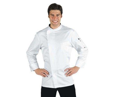 chaqueta cocinero saten