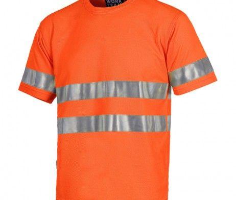 Camiseta alta visibilidad color naranja