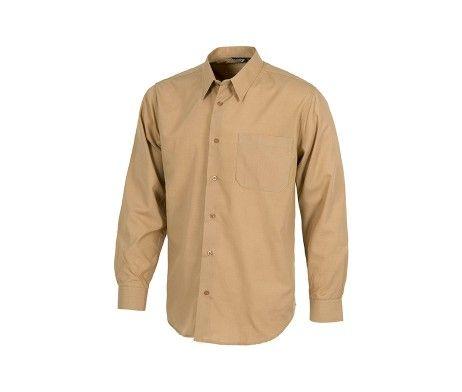 camisa de trabajo laboral beige