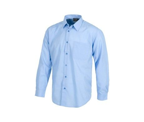camisa trabajo azul cielo barata