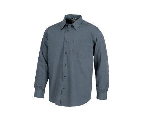 camisa de trabajo laboral gris
