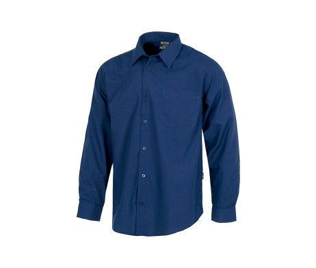 camisa de trabajo laboral azul