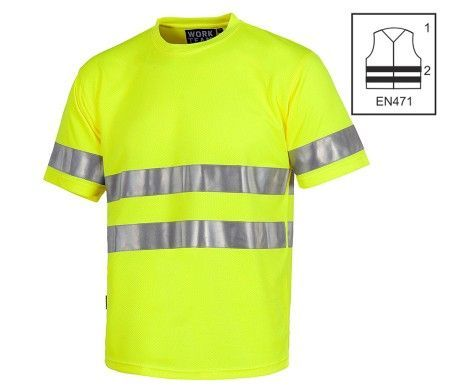 Camiseta alta visibilidad manga corta amarillo