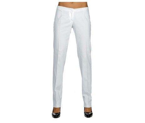 pantalón mujer ajustado pitillo blanco