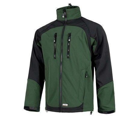 chaqueta resistente al desgarro verde oscuro