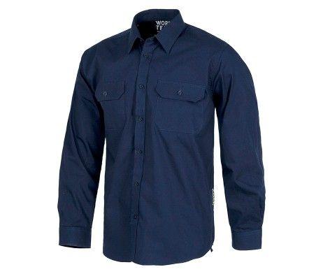 camisas azules negra azul cielo amarilla de trabajo
