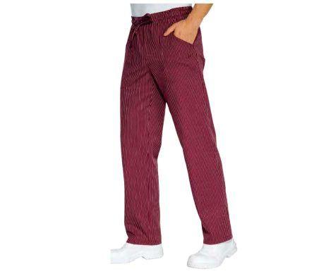 pantalon burdeos de rayas cocinero original chicote