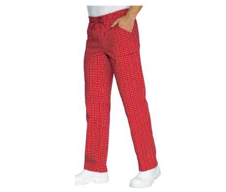 pantalon trabajo rojo cocina hostelería
