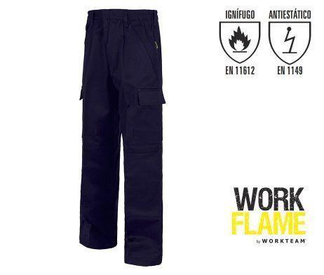 pantalón ignífugo uso laboral soldador