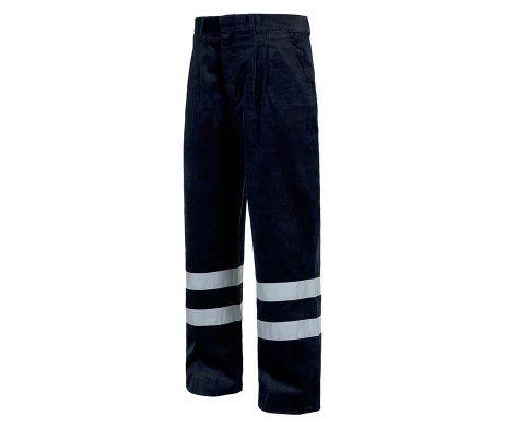 pantalón de pana para trabajar azul marino