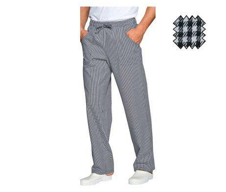 pantalón cuadros negros blancos para cocinero madrid