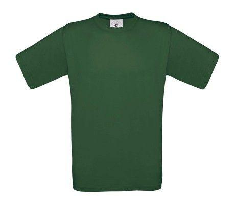 camiseta manga corta hombre verde oscuro