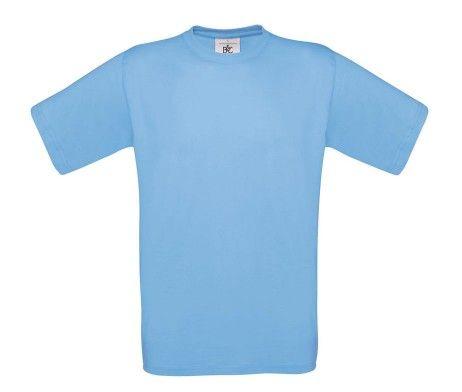 camiseta manga corta hombre azul celeste