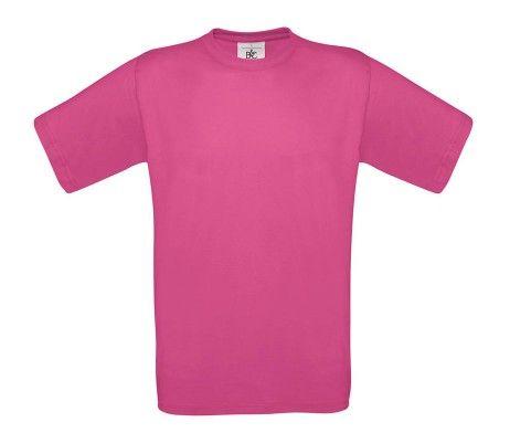 camiseta manga corta hombre fucsia