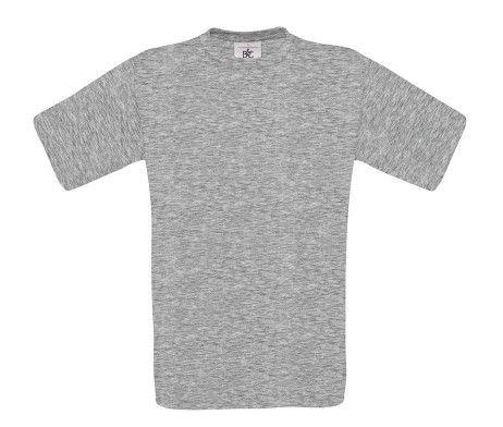 camiseta manga corta hombre gris