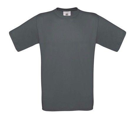 camiseta manga corta hombre gris oscuro marengo