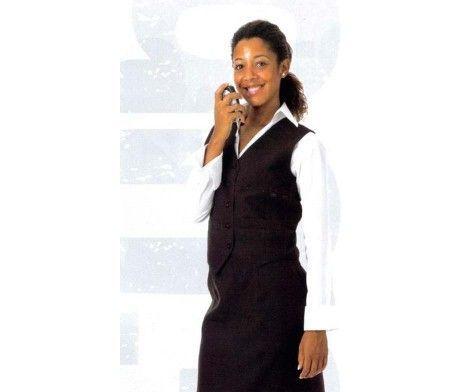 chaleco mujer camarera restaurante elegante