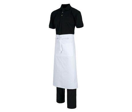 delantal blanco frances largo para camareros