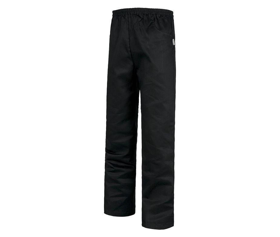 Pantal n de cocina en blanco negro y granate pantal n workteam - Pantalones de cocina ...