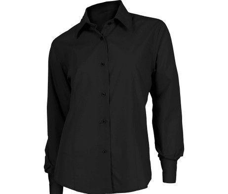 camisa laboral mujer color negro