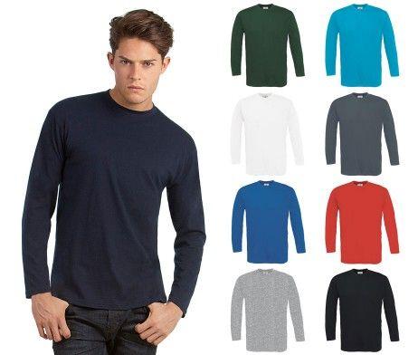 camiseta manga larga hombre