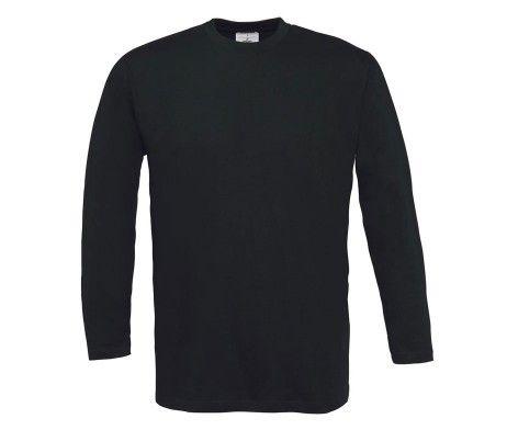 camiseta manga larga hombre negro