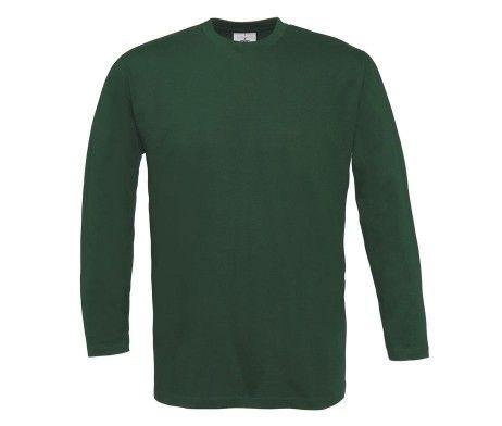 camiseta manga larga hombre verde