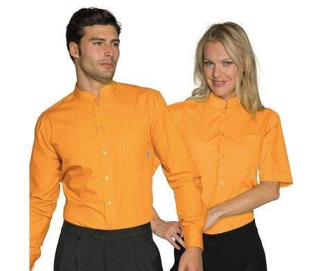 camisa amarilla camarero original moderna diseño
