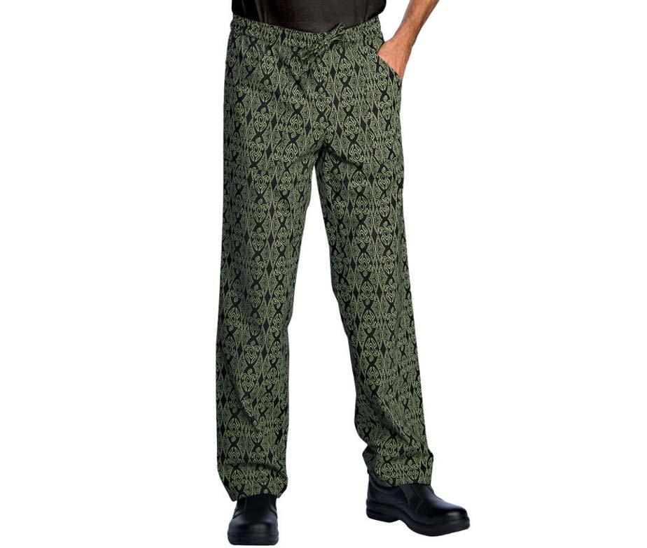 Pantal n de cocina con estampados pantal n isacco maori - Pantalones de cocina ...