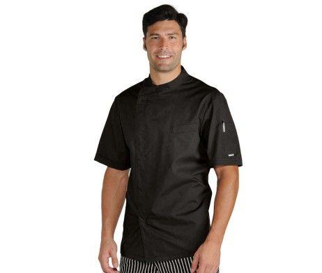 Casaca de cocinero negra clásica hombre Chef