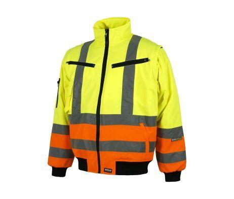 Cazadora piloto alta visibilidad amarillo naranja reflectante