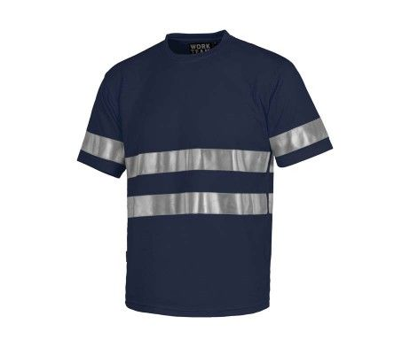 camiseta reflectante azul marino