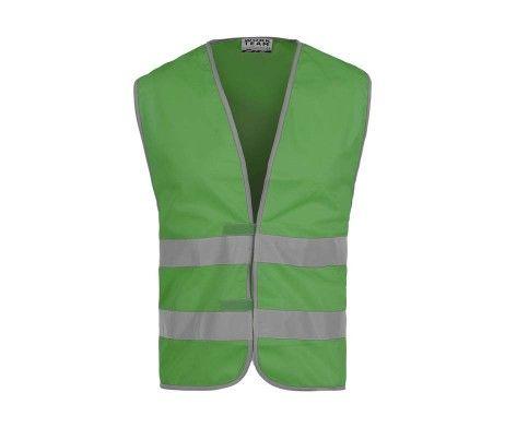 Chaleco alta visibilidad reflectante verde