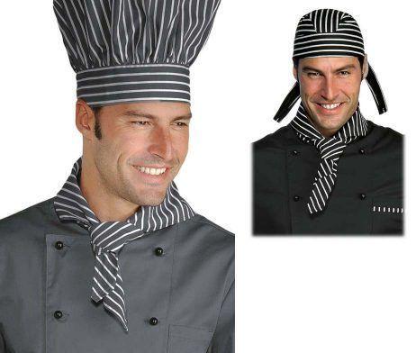 pañuelo cocina a rayas negro y blanco original