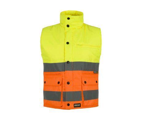 Chaleco polar alta visibilidad amarillo naranja reflectante
